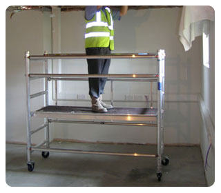 Free Toe Boards with all Folding Scaffold Tower