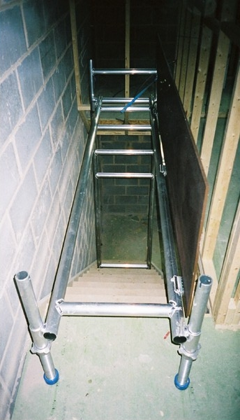 temporary stairwell scaffold