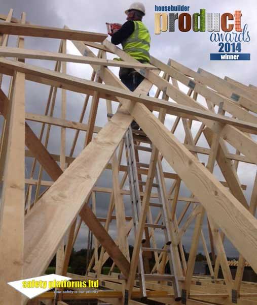 safe roof truss access ladder