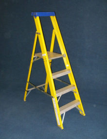 Glassfibre step ladder