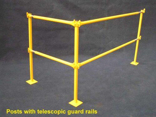 Telescopic edge protection