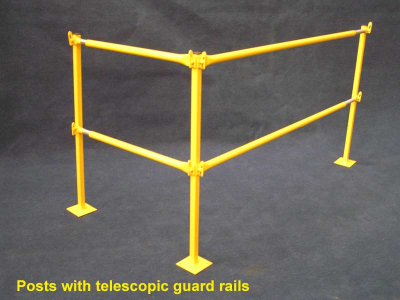 Telescopic edge protection