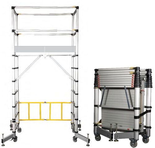 telescopic mobile scaffold tower