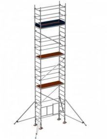 Folding scaffold tower 6.5m platform height