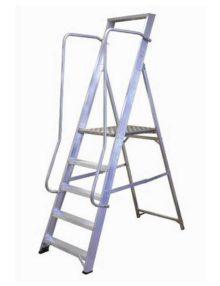 5 Tread aluminium wide step ladder
