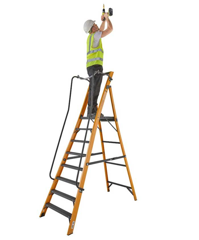 fibreglass step ladder 8 step