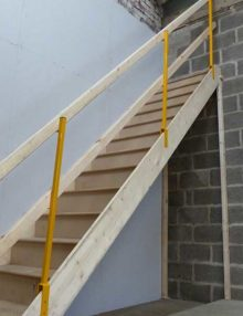 Telescopic stair edge protection system