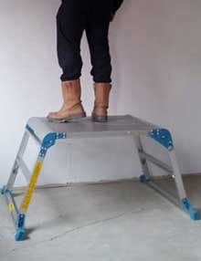 Wide folding work platforms