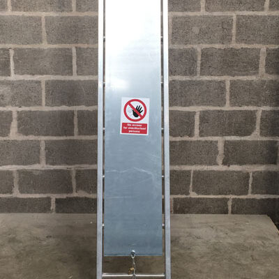 HSE steel ladder guard