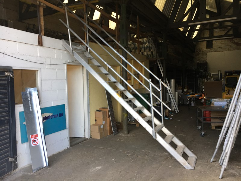 temporary site staircase