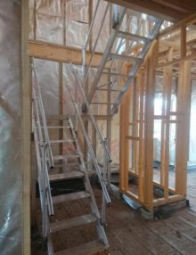 Aluminium temporary staircase